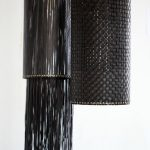 Lampshades made of recycled tube of tire
